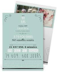 40 ans de mariage merveilleux faire part mariage 40 ans invitation 40 ans de mariage
