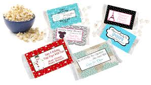 popcorn favor bags popcorn wrapper labels personalized with your information