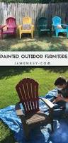 Painted Wooden Patio Furniture Painted Outdoor Furniture Jamonkey