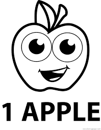 one apple coloring pages wecoloringpage