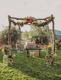 Pergola Wedding Decorations by Bohemian Gypset Wedding Inspiration Wedding Trends Green
