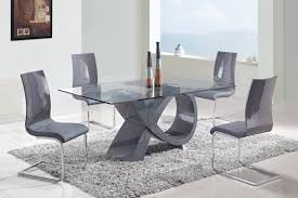 Dining Tables Grey Dining Room Modern Glass Dining Room Table Together With