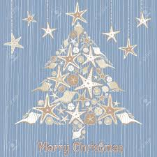 tropical seashell christmas tree card royalty free cliparts