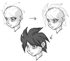 how to draw anime hair drawing manga hair lesson how to draw