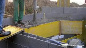 treppe betonieren schwimmbad mit schalsteinen betonieren pool selber bauen de