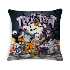 18 x 18 inch square halloween decorative throw pillow cover case