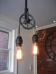 pulley system light fixtures lighting pulley system light fixtures fixture pendant antique barn