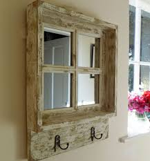 vintage shabby chic square wooden window mirror
