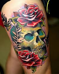 skulls and roses tattoos rebel circus