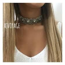 silver metal choker necklace images Jewels silver coin festival choker necklace necklace summer jpg