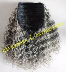Real Ponytail Hair Extensions by 100 Real Hair Gray Puff Ponytail Hair Extension Clip In