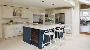 your kitchen design harvey jones kitchens original kitchen with blue painted island from harvey jones