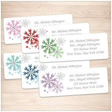 winter colorful snowflake address labels printable at printable
