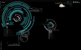 hud style futuristic hi tech design for retina geeklets