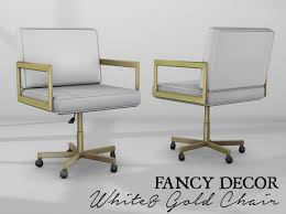 white gold office chair second marketplace fancy decor white gold office chair