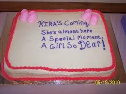 baby shower cake inscription ideas