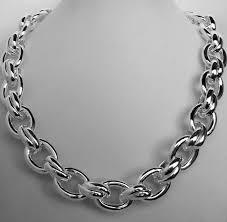 big link necklace images Oval link necklace in sterling silver jpg