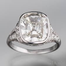mine cut engagement ring mine cut timeless