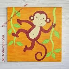 tableau chambre gar n tableau petit singe de la savane un joli tableau pour la décoration