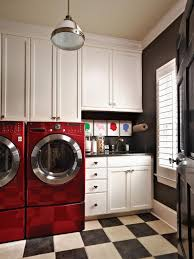 red interior design beautiful and efficient laundry room designs hgtv
