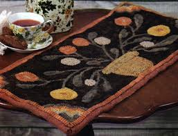 Primitive Hooked Rugs Pillows And Runners Patterns For Rug Hooking Patterns From Folk U0027n
