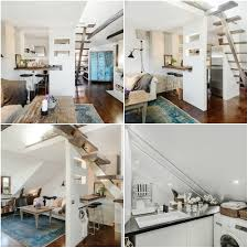 3 beautiful attic apartment home interior design kitchen and