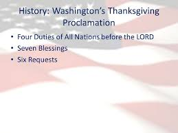 thanksgiving history washington s thanksgiving proclamation four