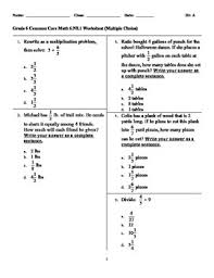 grade 6 common core math 6 ns 1 worksheet multiple choice by deb
