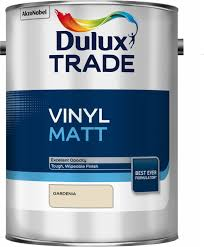 dulux trade gardenia matt vinyl paint 5l departments diy at b u0026q