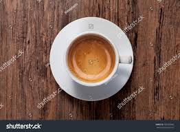 espresso coffee top view cup espresso coffee on stock photo 705723568 shutterstock