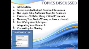 how to write a reasearch paper how to write a research paper using logos bible software sneak how to write a research paper using logos bible software sneak preview