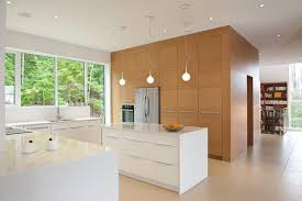 home design spacious minimalist stylish kitchen decor with shiny