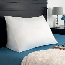 wedge bed pillows remedy down alternate reading wedge pillow 64 00021 the home depot