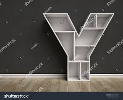Triangle Shaped Bookcase Letter Y Shaped Shelves 3d Rendering Stock Illustration 448238467