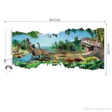 Decoration Kids Wall Decals Home by 3d View Cartoon Dinosaur Wall Decal Sticker Boyes Kids Room