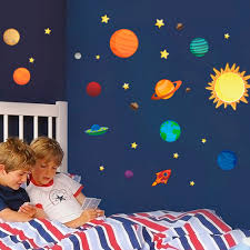 2016 new creative solar system wall stickers plane wall paper kids