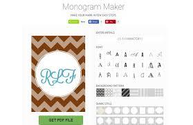 Create Monogram Initials 5 Free Monogram Generators And Makers