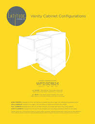 what is the depth of wall cabinets latitude cabinets wfd301824 configurations pdf