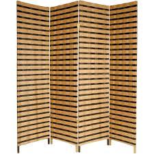 wicker room divider ore international 5 9 ft espresso 4 panel room divider fw0676y