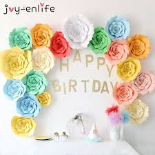 flowers birthday enlife 2pcs 20cm diy paper flowers backdrop decor hen party