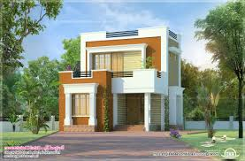 smallhouse flat roofed small house house design and planning