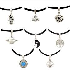 rope necklace choker images Vintage leather cord choker necklace elephant planet hamsa hand png