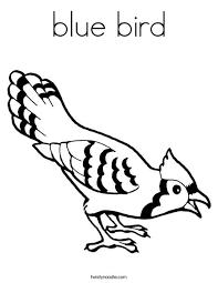 blue bird coloring twisty noodle