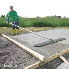 How Much To Concrete Backyard Concrete Forms And Pouring A Concrete Slab Family Handyman