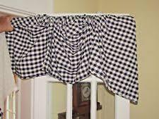 country curtains buffalo check lined austrian valance ebay