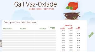 Get Out Of Debt Budget Spreadsheet by The 50 Best Ways To Get Out Of Debt In Canada