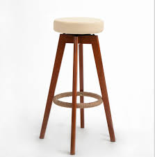 cafe bar stools wooden swivel bar stools modern brown finish round leather foam seat