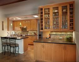 Kitchen Backsplash Cherry Cabinets by Kitchen Remodels Tucson