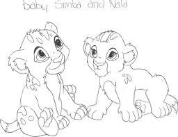 nala coloring pages baby simba and nala by livelaughlove101 on deviantart baby