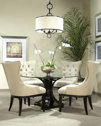 dining table round glass and wood dining table and chairs round